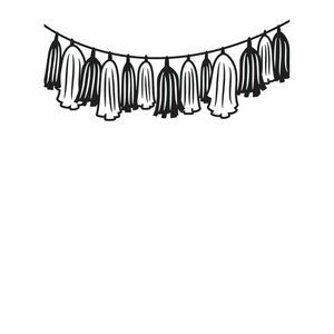 Darice Embossing Folder 5/$25 Tassle Garland